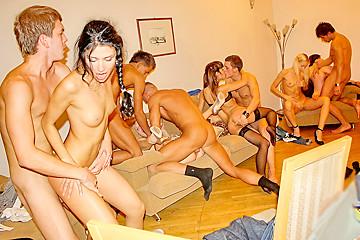 Stor college orgie