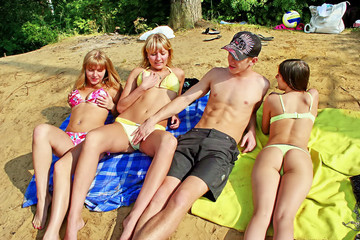Student sex friends on a picnic, part 4