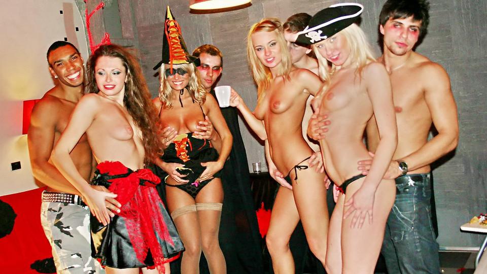 Girls stripping naked thong